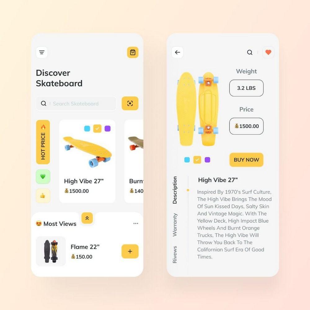 Online Shop for Skateboard