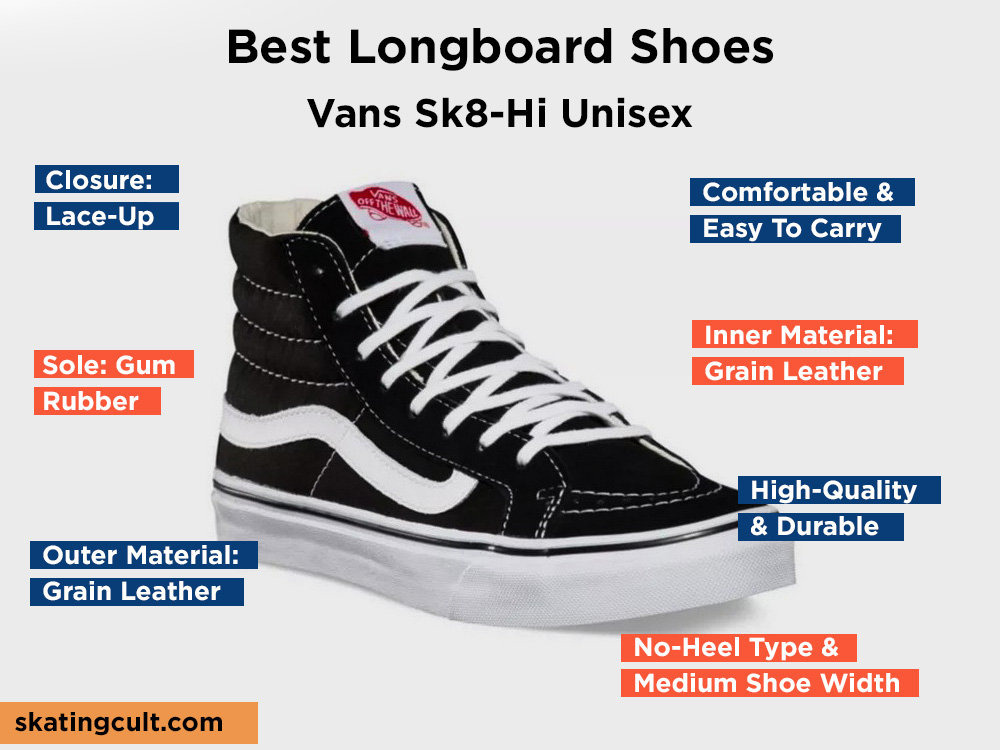 Vans Sk8-Hi Unisex Review, Pros and Cons